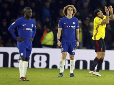 David Luiz a frustrovaní hráči Chelsea