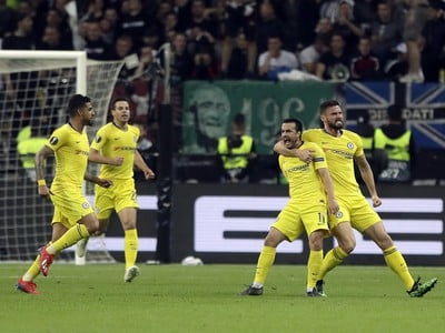 Hráči Chelsea sa radujú
