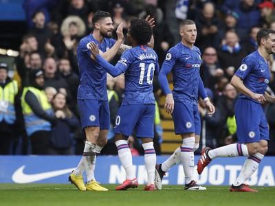 Gólové oslavy hráčov Chelsea