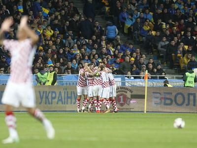 Radosť Chorvátov po góle