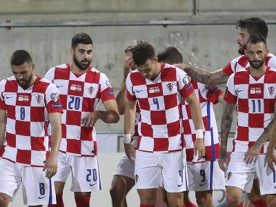 Gólová radosť hráčov Chorvátska