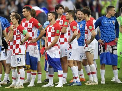 Sklamaní hráči Chorvátska po