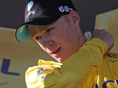 Chris Froome v žltom
