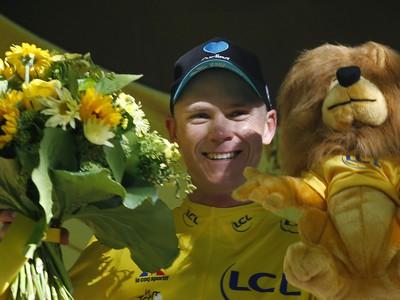 Chris Froome v žltom drese