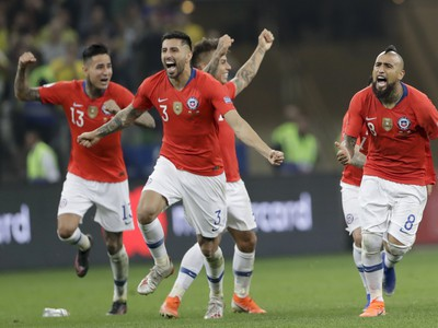 Hráči Čile sa radujú