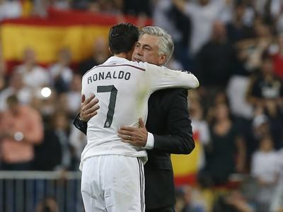 Cristiano Ronaldo a Carlo Ancelotti