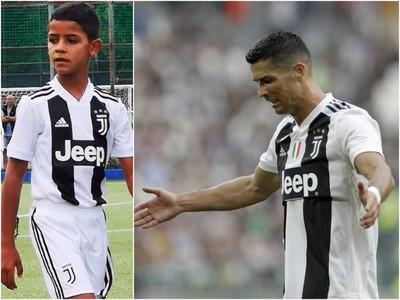 Cristiano Ronaldo Junior strelil