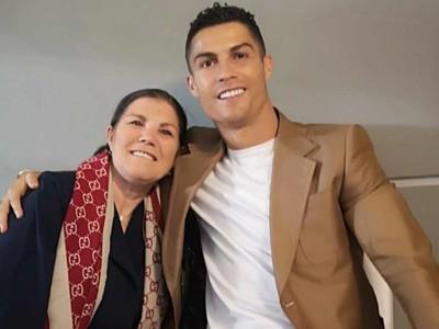 Cristiano Ronaldo s matkou