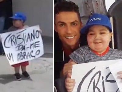 Cristiano Ronaldo krásnym gestom