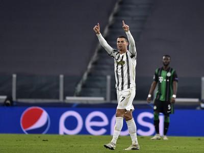Cristiano Ronaldo sa teší po strelení gólu