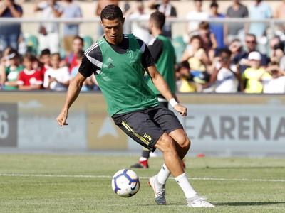 Cristiano Ronaldo na predzápasovej