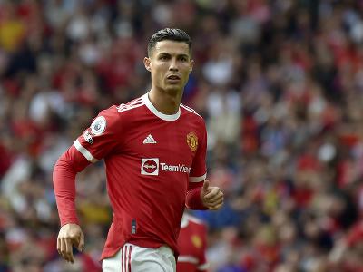 Cristiano Ronaldo v drese Manchestru United