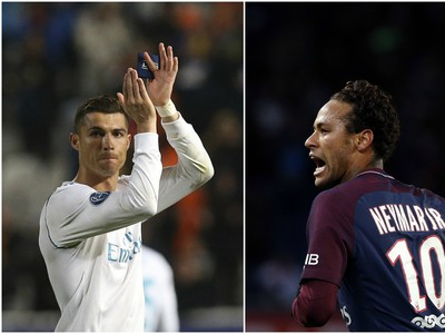 Cristiano Ronaldo a Neymar