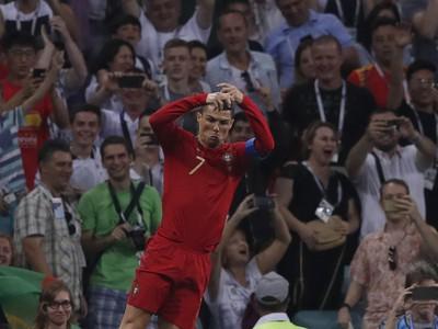 Cristiano Ronaldo a jeho gólové oslavy po vedúcom góle Portugalska
