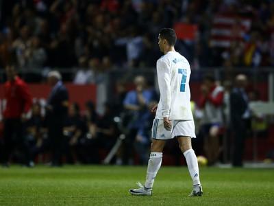 Sklamaný Cristiano Ronaldo