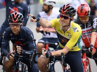 Celkový líder, austrálsky cyklista