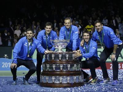 Radosť tímu Argentíny po