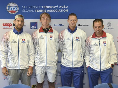 Slovenský daviscupový tím, zľava