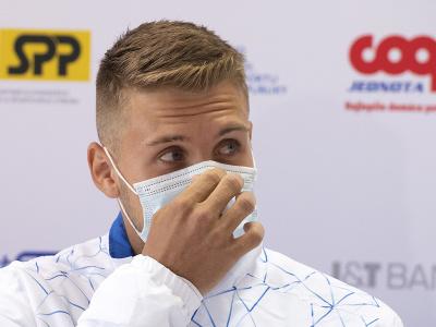 Na snímke slovenský tenista Alex Molčan počas nominačnej tlačovej konferencie k stretnutiu 1. svetovej skupiny Davisovho pohára proti Čile