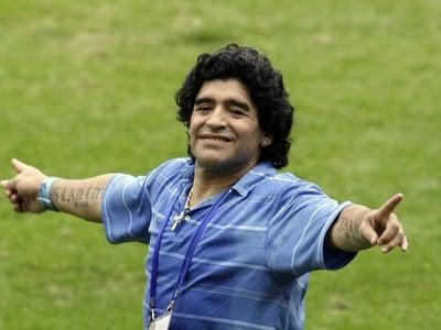 Božský Diego mal taktiež radosť