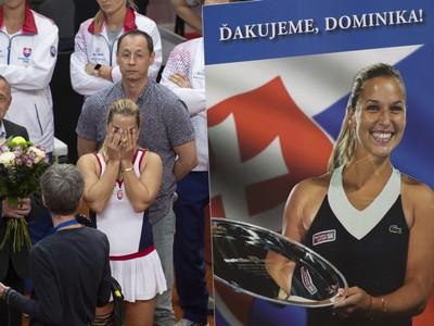 Dominika Cibulková so slzami dojatia po lúčení sa s reprezentačnou kariérou