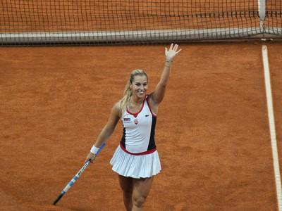 Dominika Cibulková sa raduje