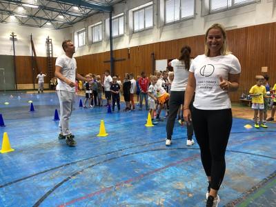 Dominika Cibulková počas tréningov