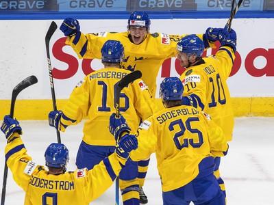 Gólové oslavy hokejistov Švédska