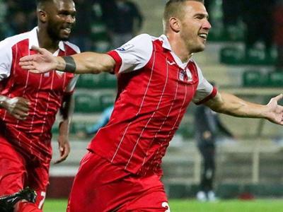 Erik Jendrišek oslavuje gól