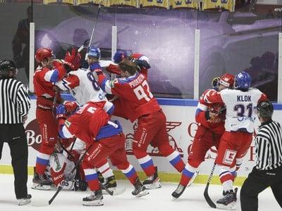 Bitka v zápase Česka s Ruskom