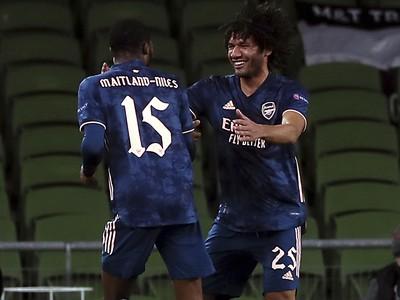 Mohamed Elneny sa raduje z gólu v Európskej lige