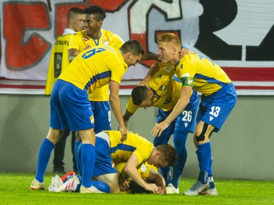 Gólová radosť hráčov FC