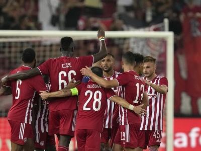 Gólové oslavy futbalistov Pireusu