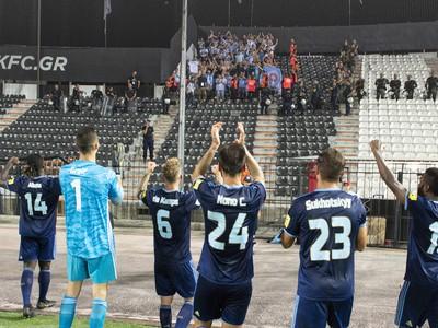 Na snímke futbalisti Slovana