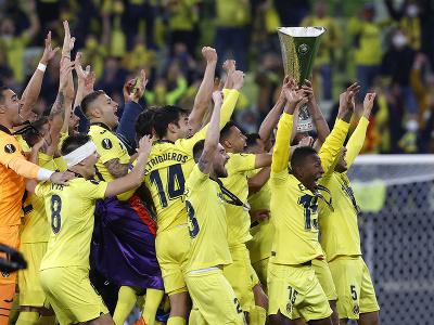 Oslavy hráčov Villarrealu po