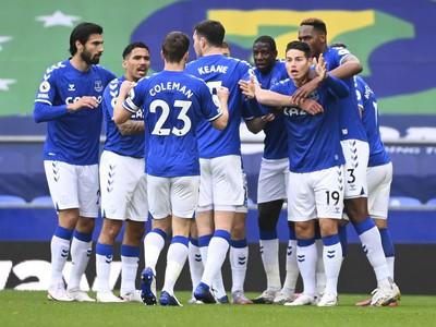Radosť futbalistov Evertonu