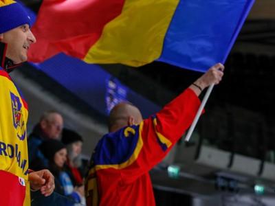 Rumunskí priaznivci v hľadisku