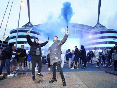 Fanúšikovia Manchestru City oslavovali