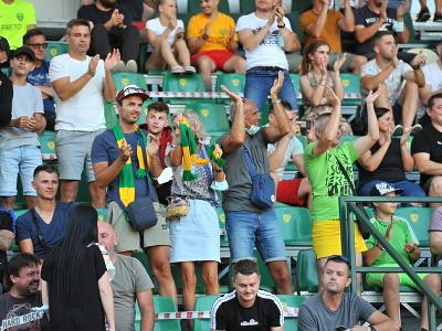 Na snímke fanúšikovia počas odvety 2. predkola Európskej konferenčnej ligy 2021/2022 MŠK Žilina – Apollon Limassol