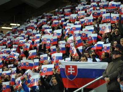Fanúšikovia Slovenska v zápase proti Wales