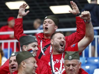 Skvelá nálada fanúšikov pred zápasom Srbsko - Švajčiarsko