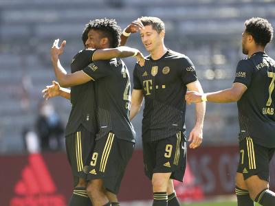 Oslava gólu hráčov Bayernu