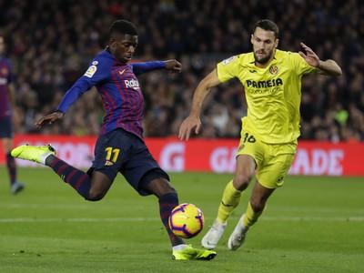 Ousmane Dembélé proti Villarrealu