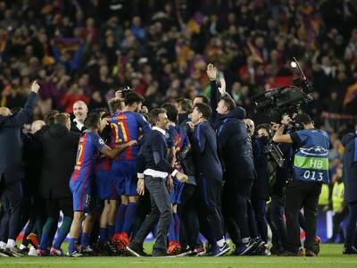 Oslavy hráčov Barcelony po