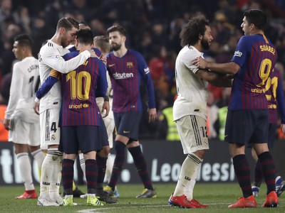 Hráči Madridu a Barcelony