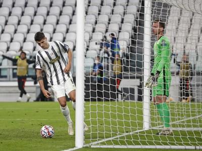 Álvaro Morata po neuznanom góle Juventusu