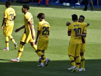 Hráči FC Barcelona v