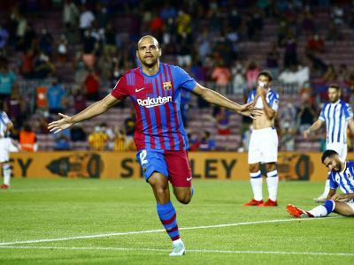Martin Braithwaite oslavuje gól