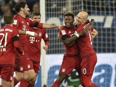 Gólové oslavy hráčov Bayernu