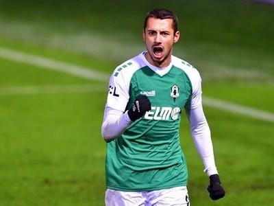 Ivan Schranz oslavuje gól